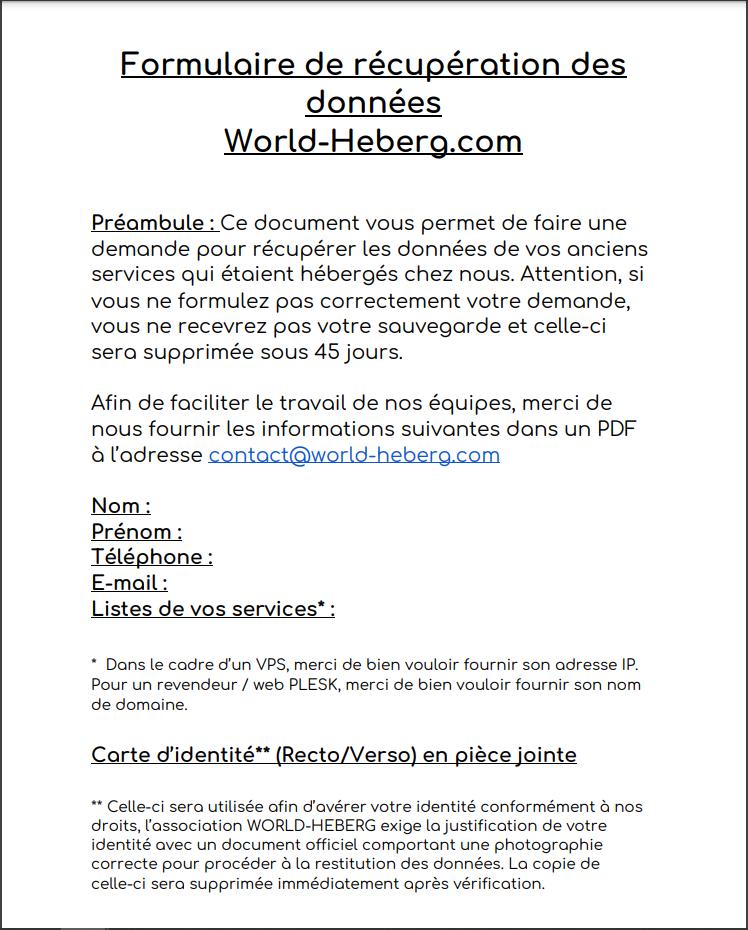 World-Heberg : Une nouvelle polémique ?