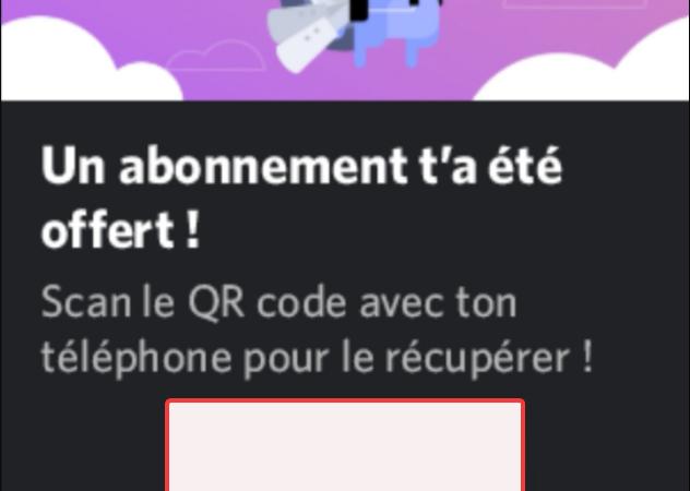 Discord : L'arnaque des Nitro QR code.